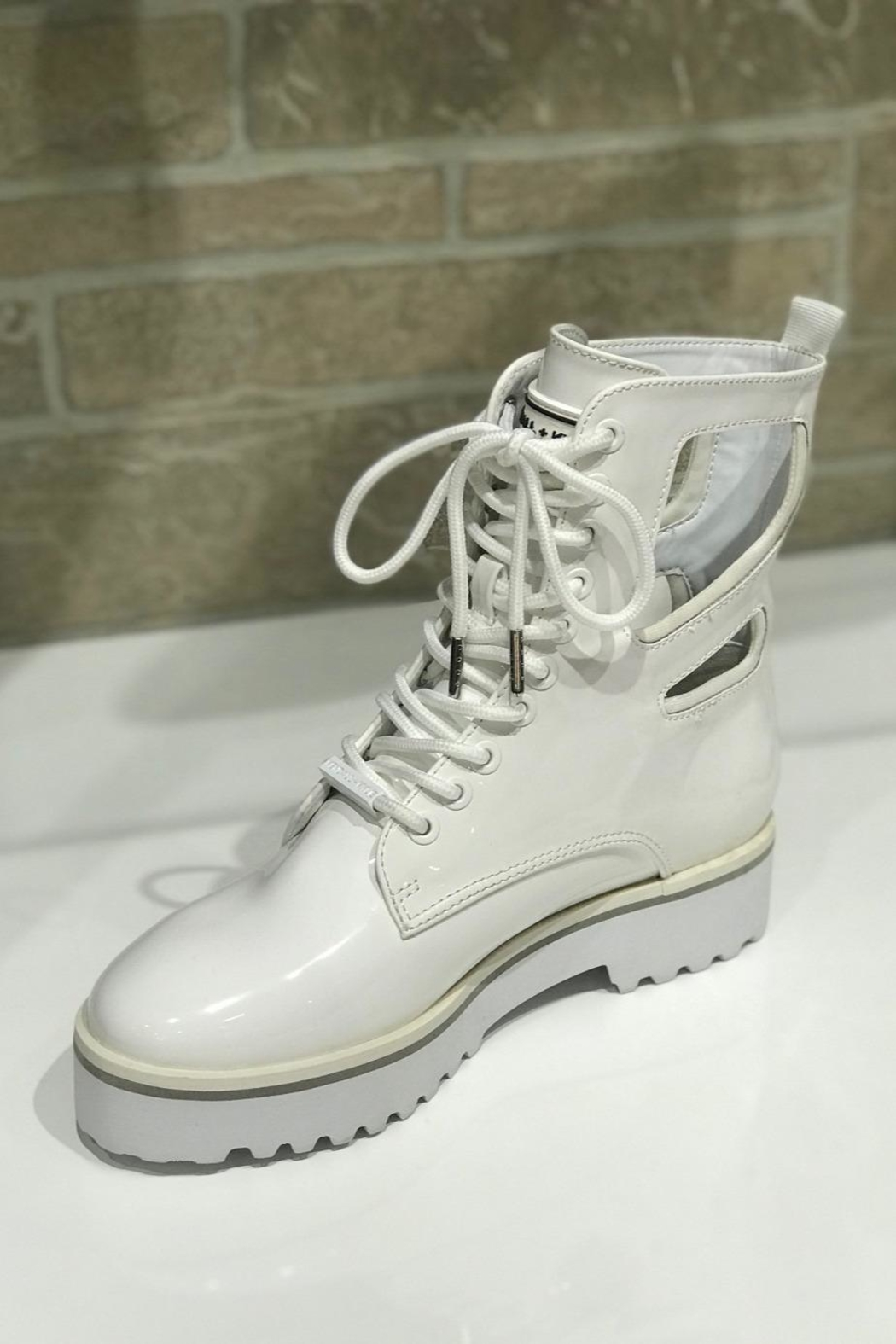 Kendall + Kylie Cut Out Combat Boot - Front Cropped Image