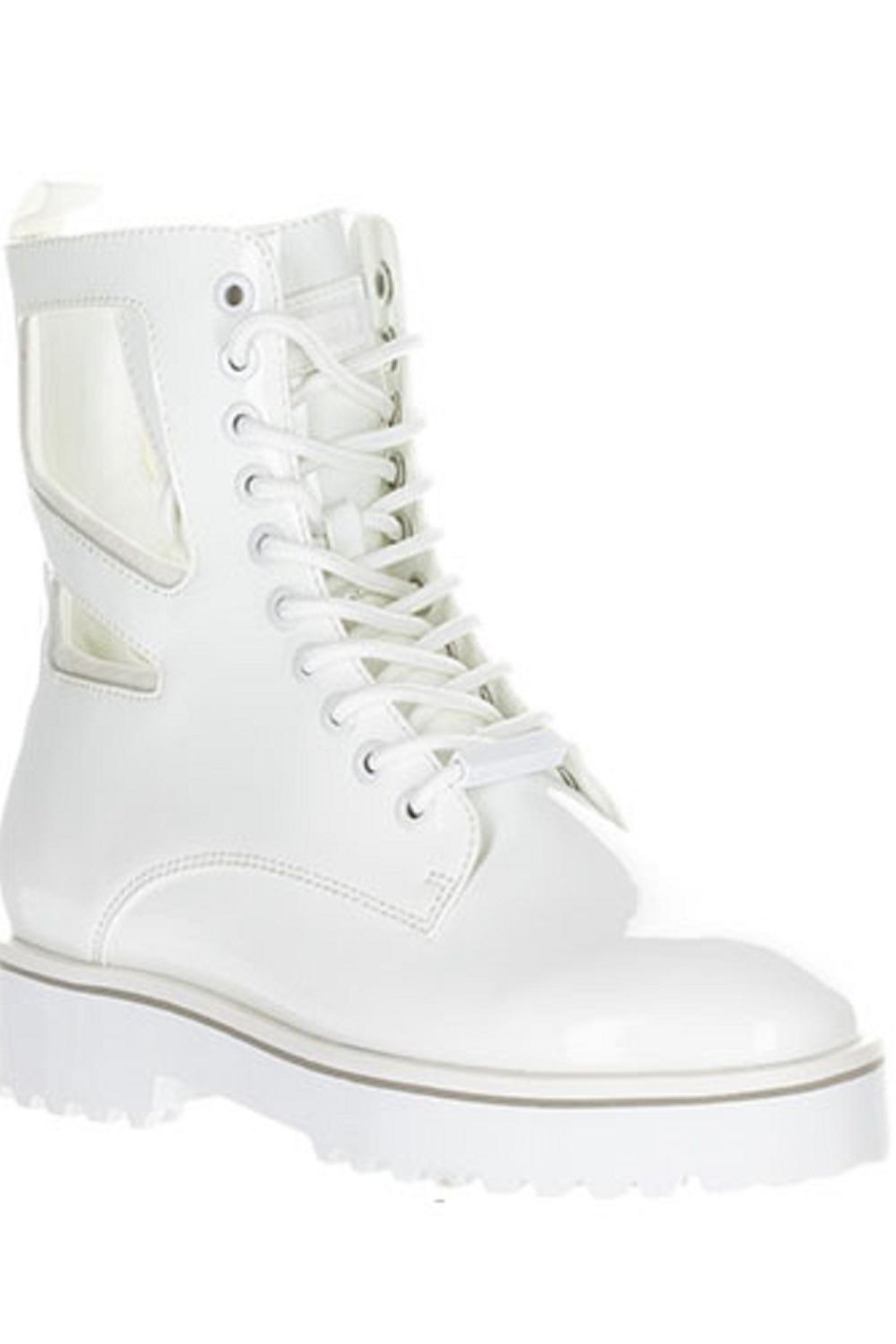 Kendall + Kylie Cut Out Combat Boot - Back Cropped Image