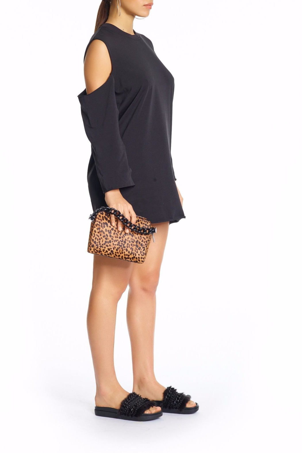Kendall + Kylie Cutaway Long Sleeve Dress - Front Full Image