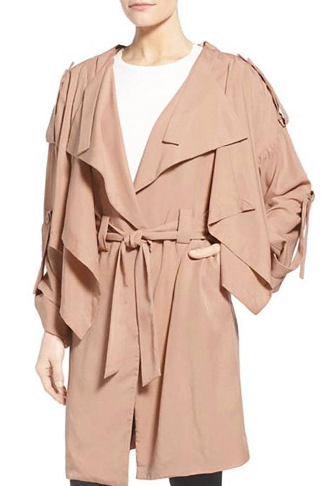 Kendall + Kylie Lightweight Trench Coat - Side Cropped Image