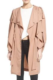 Kendall + Kylie Lightweight Trench Coat - Front cropped