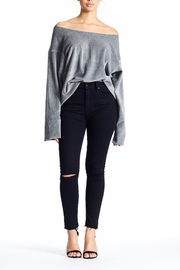 Kendall + Kylie Dropped Off Shoulder Pullover - Product Mini Image