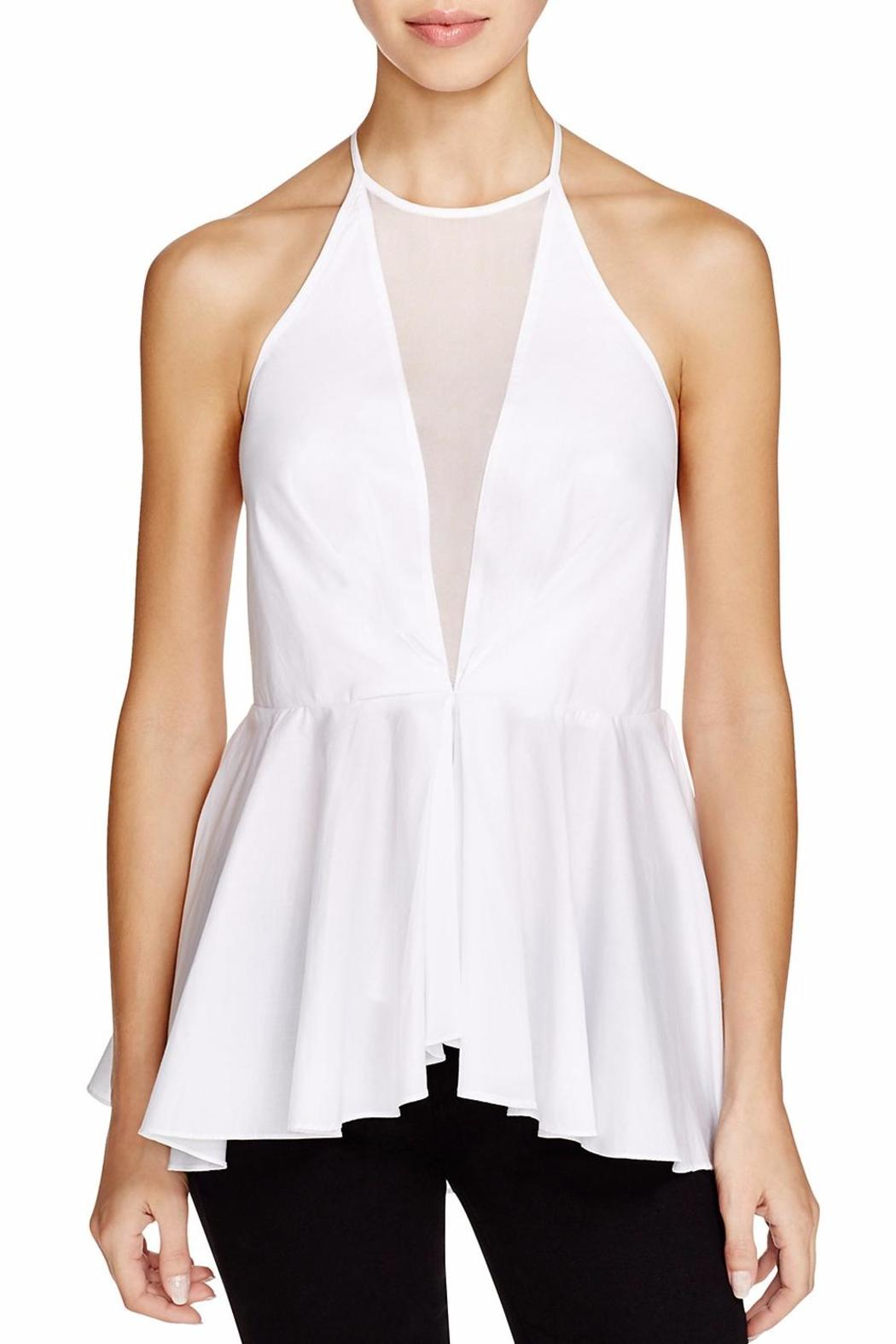 Kendall + Kylie Peplum Halter Top - Front Cropped Image