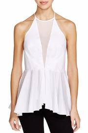 Kendall + Kylie Peplum Halter Top - Front cropped