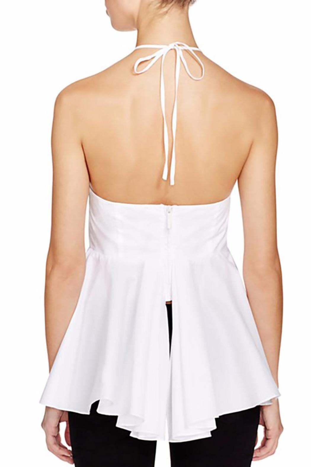 Kendall + Kylie Peplum Halter Top - Front Full Image