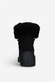 Kendall + Kylie Roan Fur Hiking Boot - Front full body