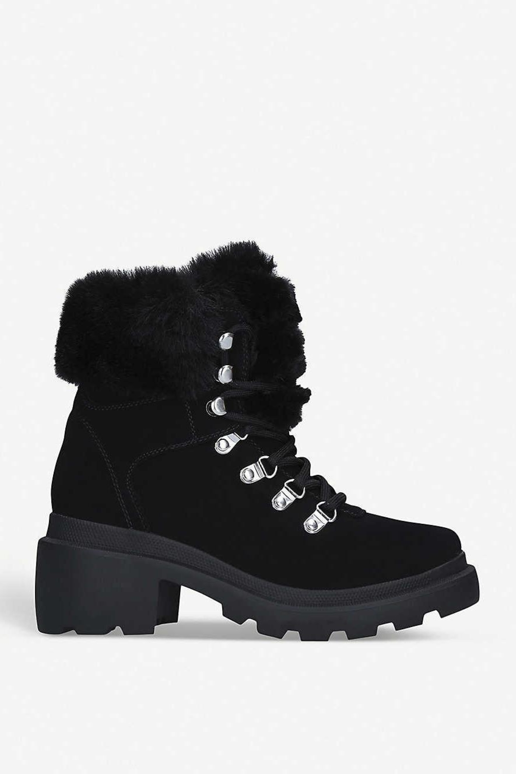 Kendall + Kylie Roan Fur Hiking Boot - Main Image