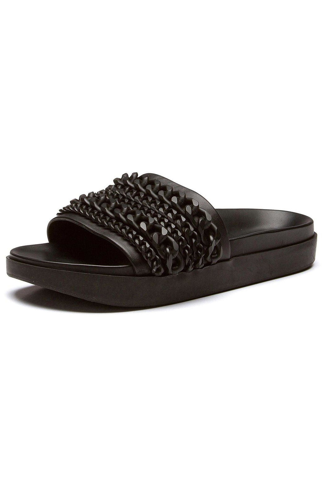 Kendall + Kylie Black Shiloh Sandal - Front Cropped Image