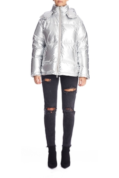 Kendall + Kylie Silver Puffer Jacket - Product List Image