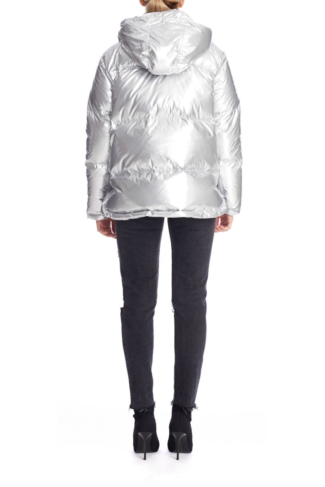 Kendall + Kylie Silver Puffer Jacket - Side Cropped Image