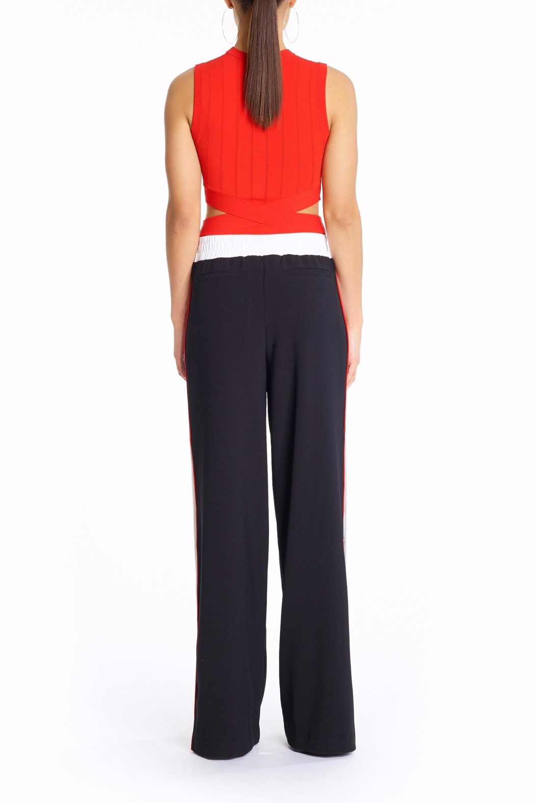 Kendall + Kylie Snap Track Pants - Side Cropped Image