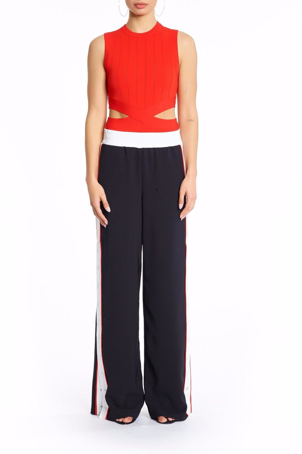 Kendall + Kylie Snap Track Pants - Main Image