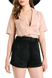 Kendall + Kylie Tie Back Blouse - Product Mini Image
