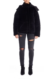 Kendall + Kylie Velour Puffer Jacket - Product Mini Image