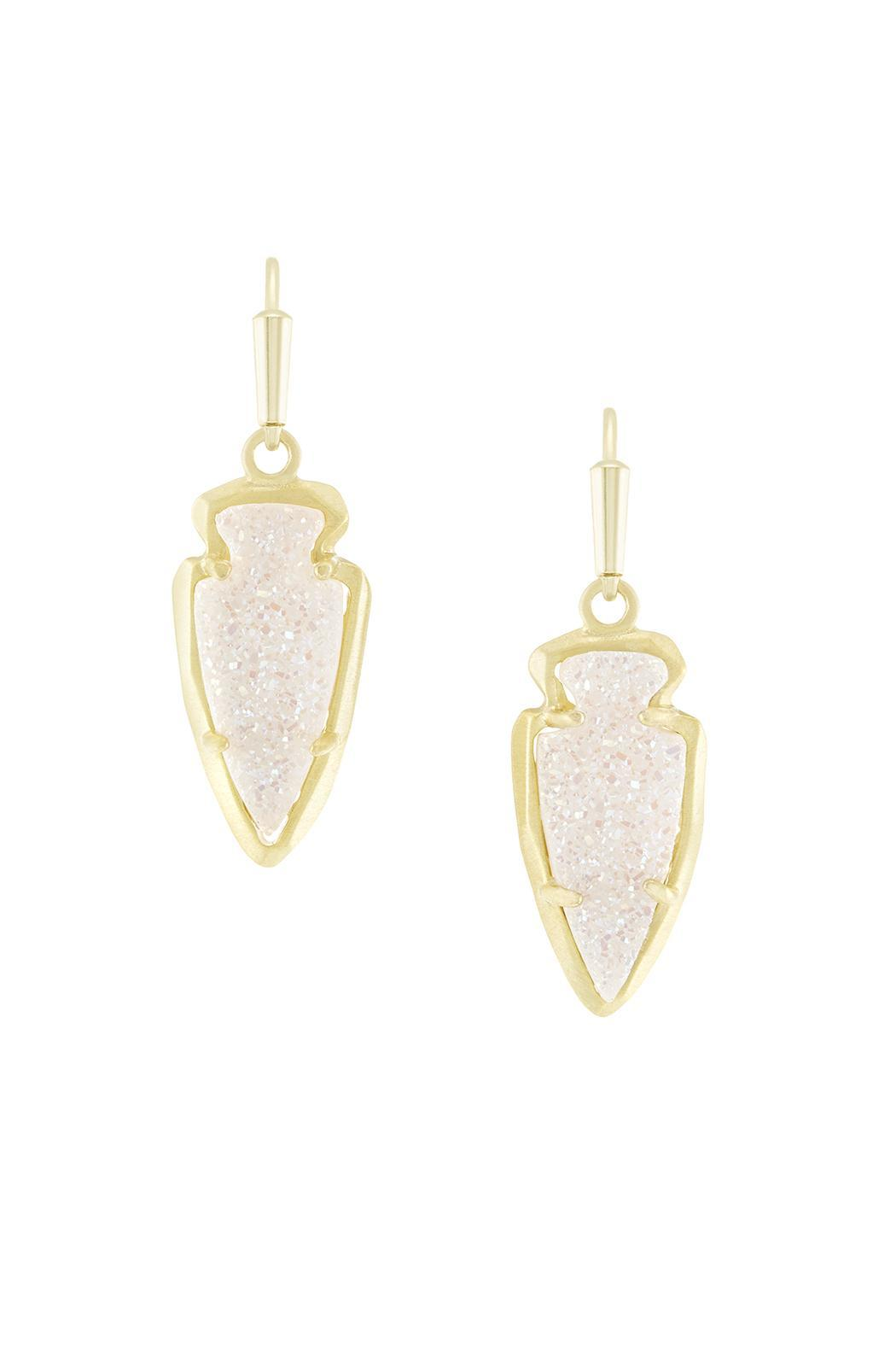 Kendra Scott Arrowhead Iridescent Earrings - Front Cropped Image