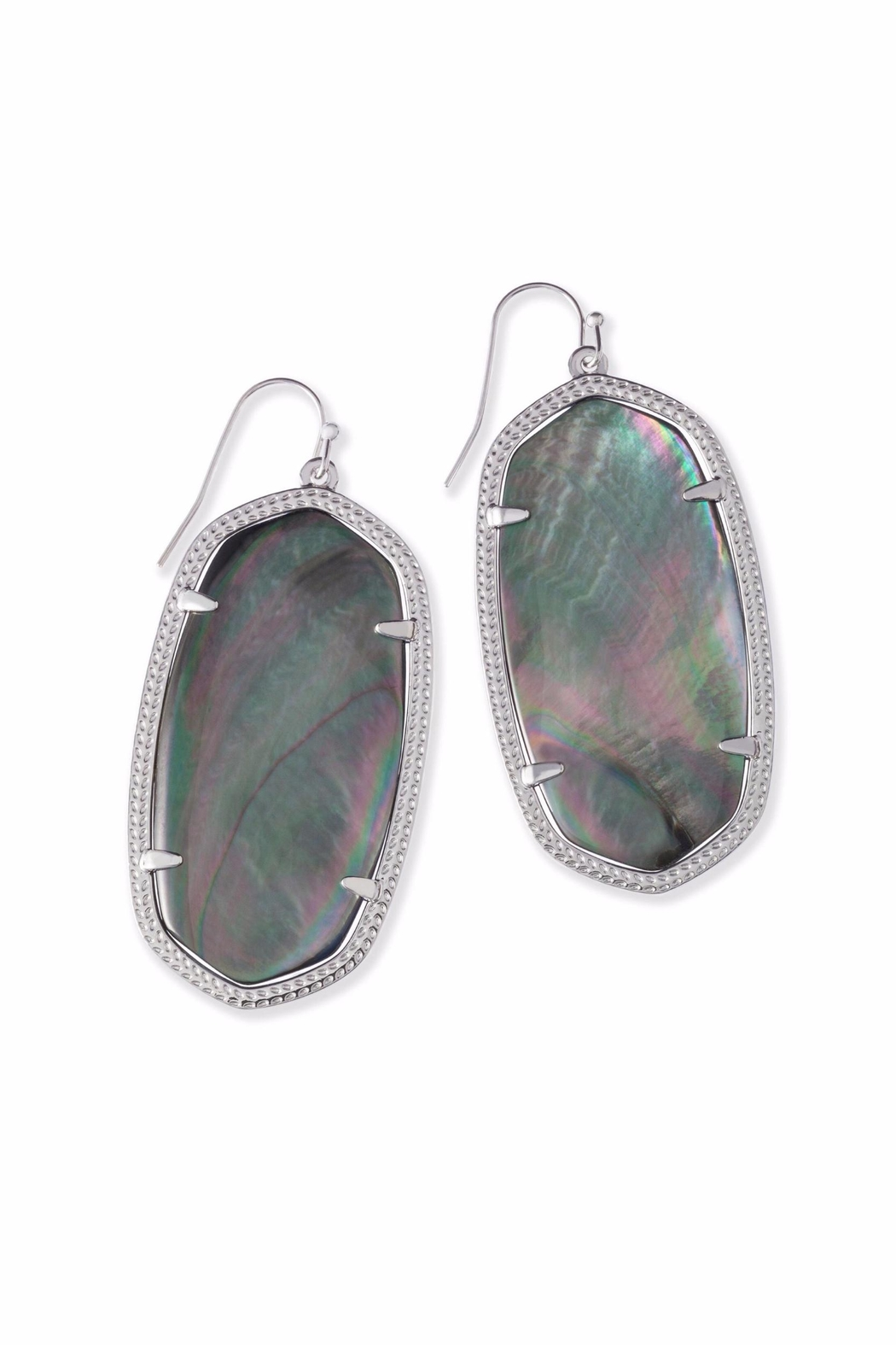 Kendra Scott Black Pearl Danielle Earrings - Front Cropped Image