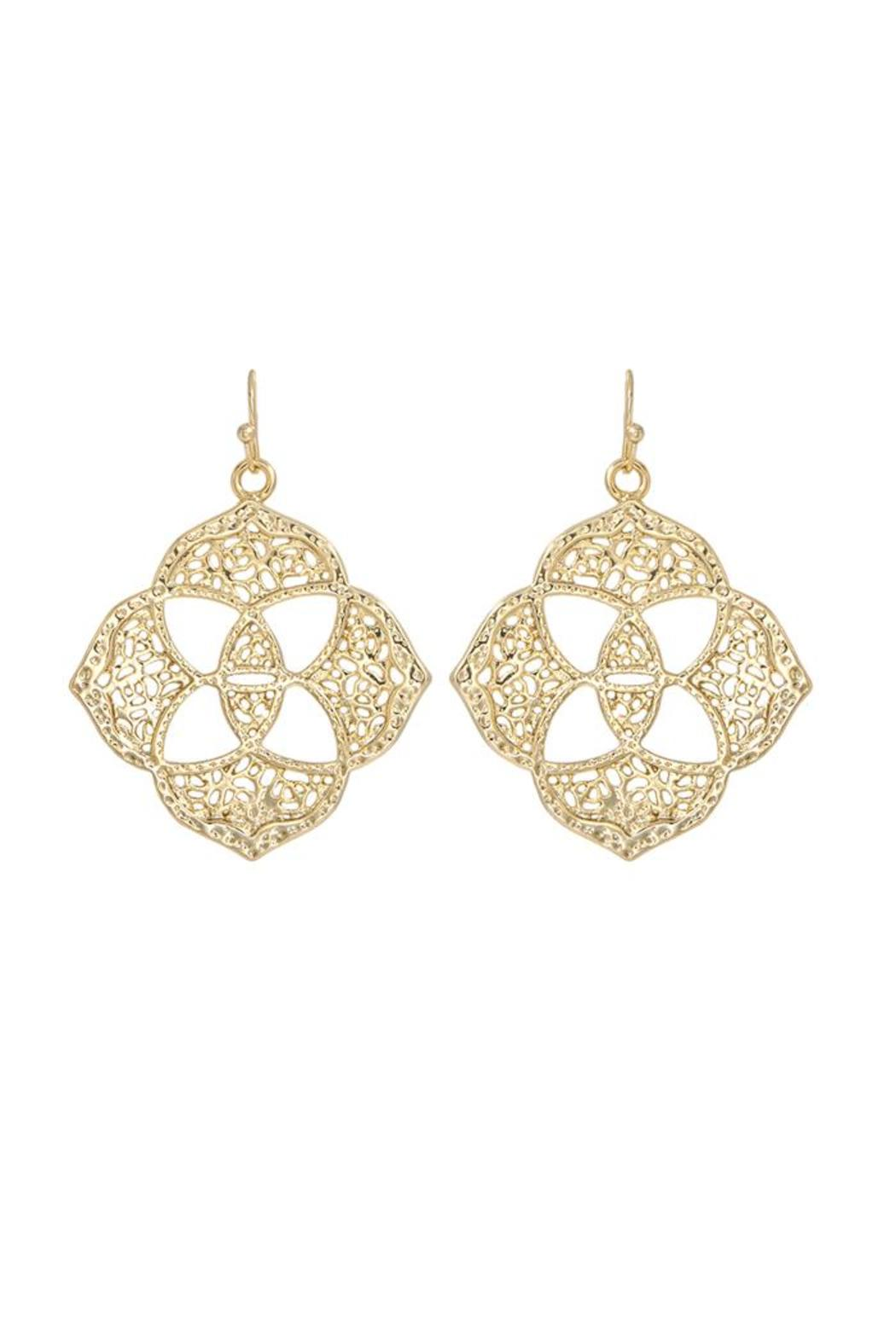 Kendra Scott Dawn Medallion Earrings Gold Front Cropped Image