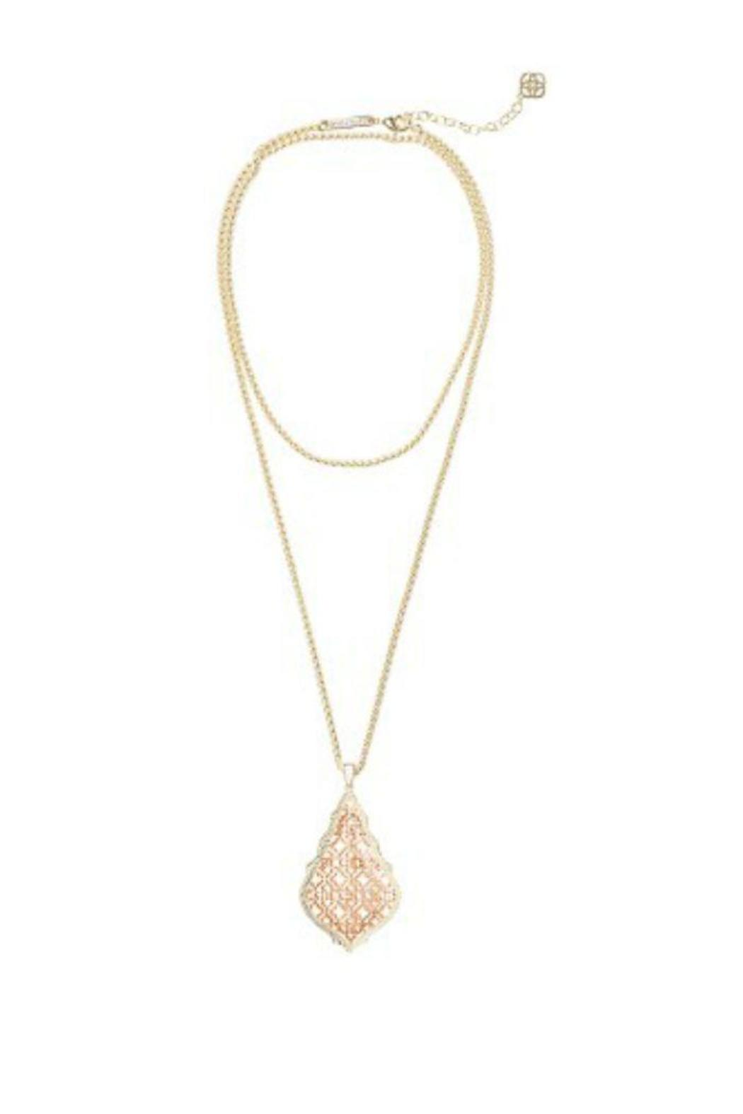 Kendra Scott Gold/rosegold Aiden Necklace - Main Image