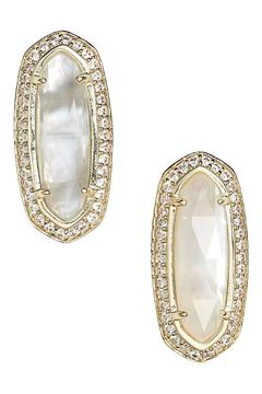 Shoptiques Product: Mother Of Pearl Stud Earrings