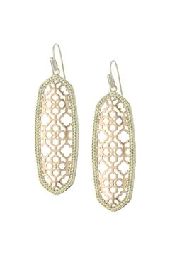 Shoptiques Product: Rose Gold Statement Earrings