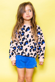 JOAH LOVE Kennedy Cheetah Pullover - Front full body