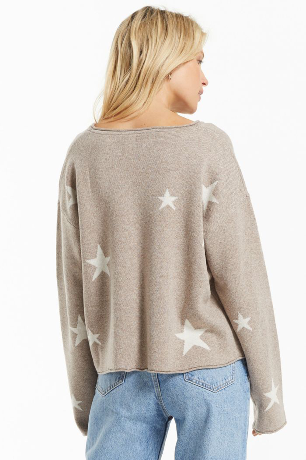 z supply Kennedy Star Sweater - Front Full Image