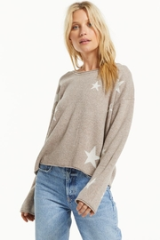 z supply Kennedy Star Sweater - Front cropped
