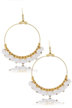 Shoptiques Product: Beaded Hoop Earrings