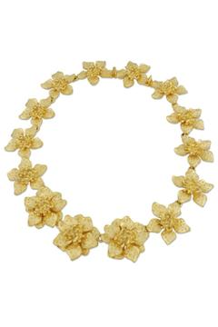 Kenneth Jay Lane Dogwood Flower Necklace - Alternate List Image