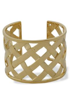 Kenneth Jay Lane Gold Basketweave Cuff - Product List Image