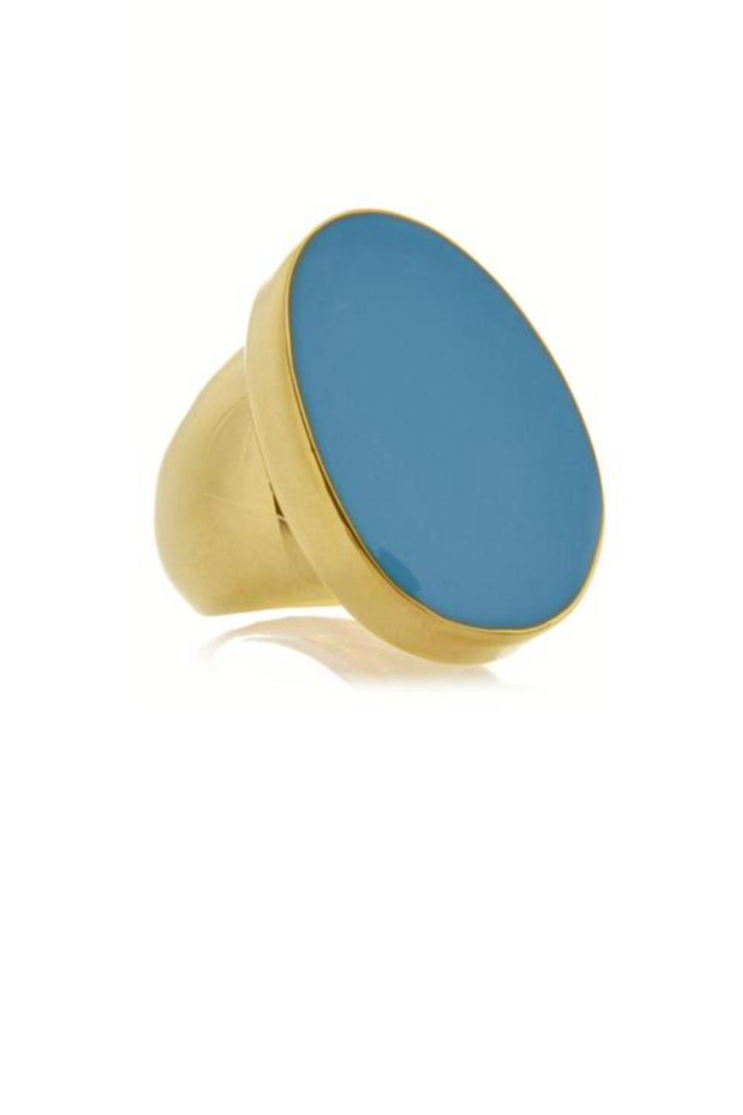 Kenneth Jay Lane Mandria Turquoise Ring - Main Image
