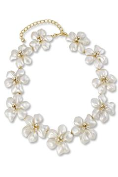 Kenneth Jay Lane Pearl Flower Necklace - Alternate List Image