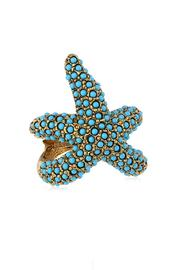 Kenneth Jay Lane Turquoise Starfish Ring - Front cropped