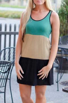 Kensie Colorblock Fall Dress - Product List Image