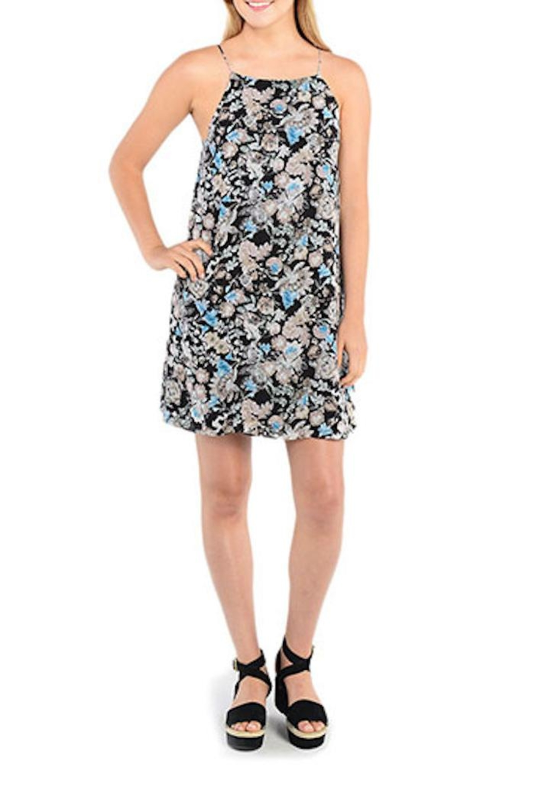 Kensie Dark Floral Shift Dress - Main Image