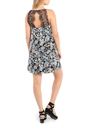 Kensie Dark Floral Shift Dress - Front full body