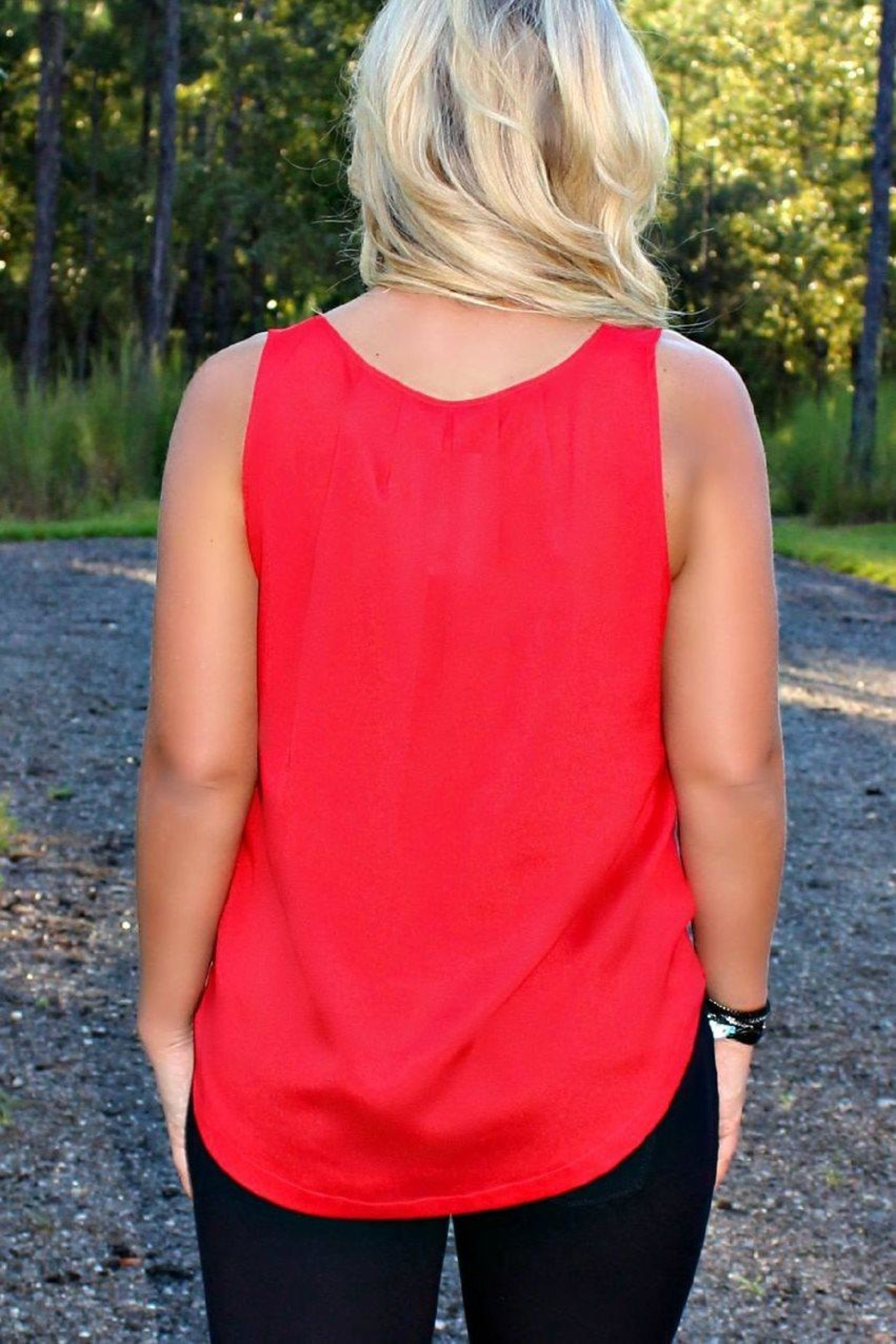 Kensie Light Weight Tank - Side Cropped Image