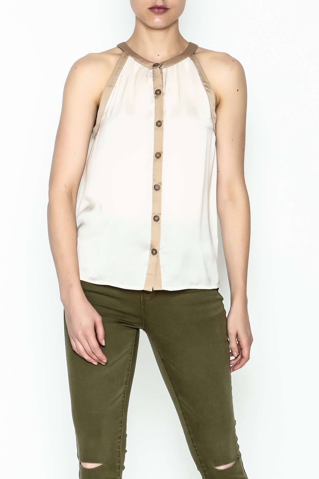 Kensie Matteford Chiffon Top - Front Cropped Image