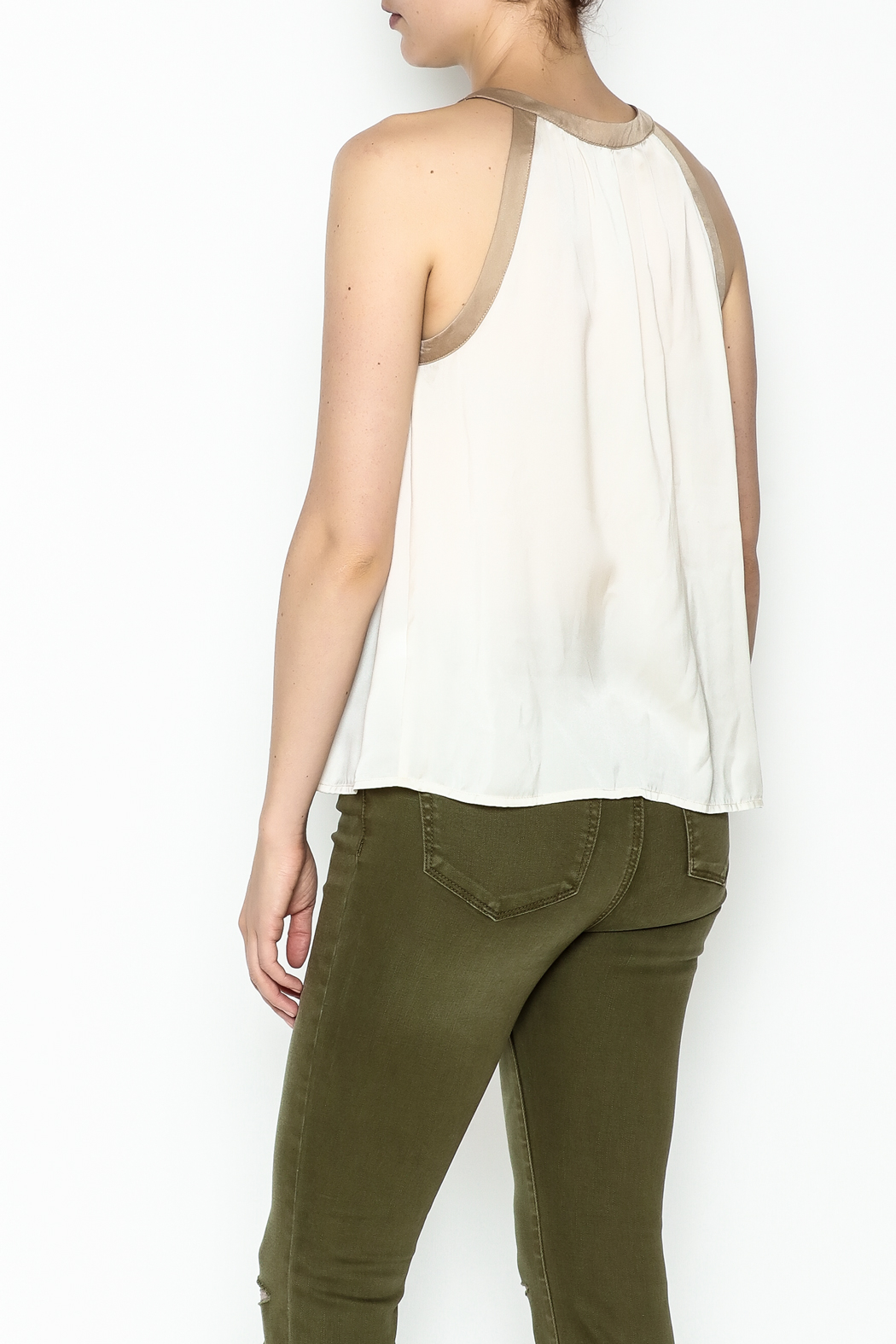 Kensie Matteford Chiffon Top - Back Cropped Image