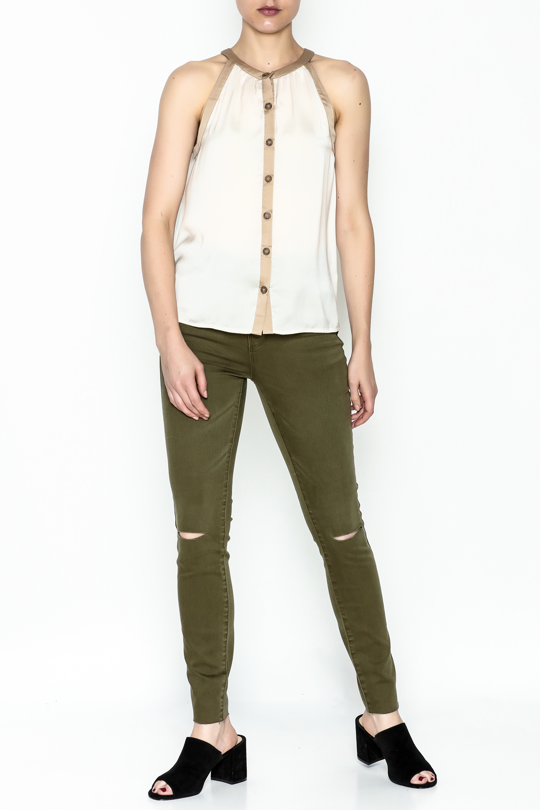 Kensie Matteford Chiffon Top - Side Cropped Image