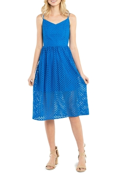 Kensie Open-Mesh-Lace Midi Dress - Product List Image