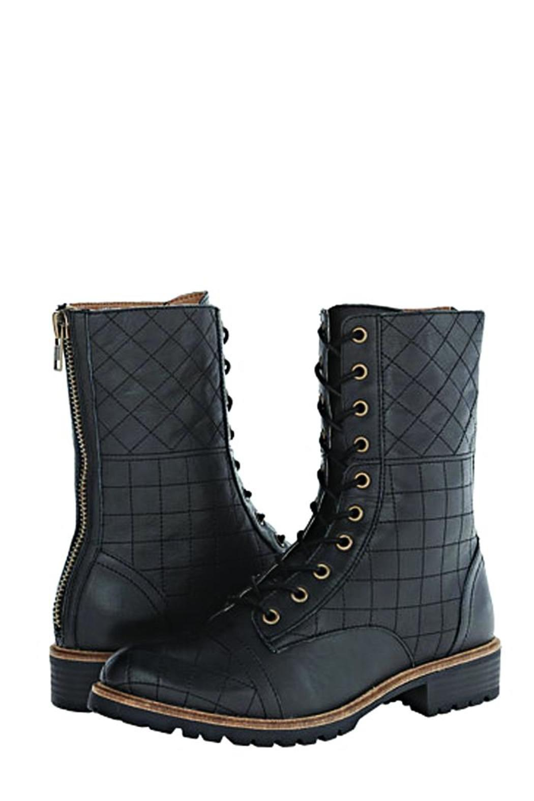 Kensie Quilted Combat Boots - Front Full Image