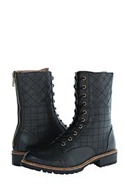 Kensie Quilted Combat Boots - Front full body