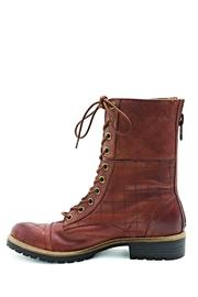 Kensie Quilted Combat Boots - Front cropped