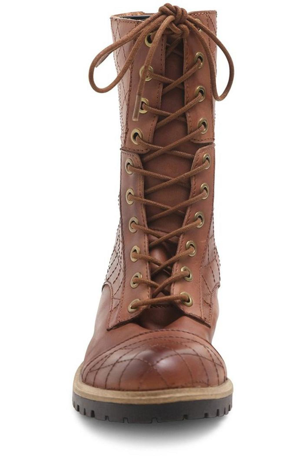 Kensie Quilted Combat Boots - Back Cropped Image