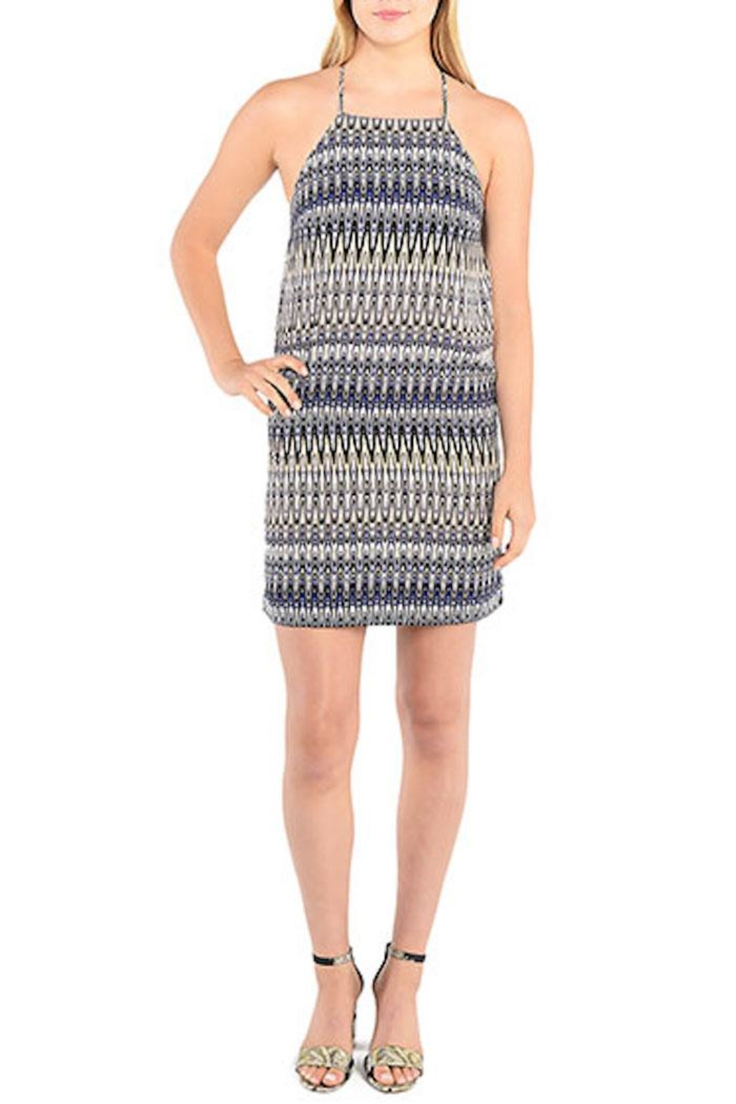 Kensie Strappy Patterned Shift Dress - Main Image