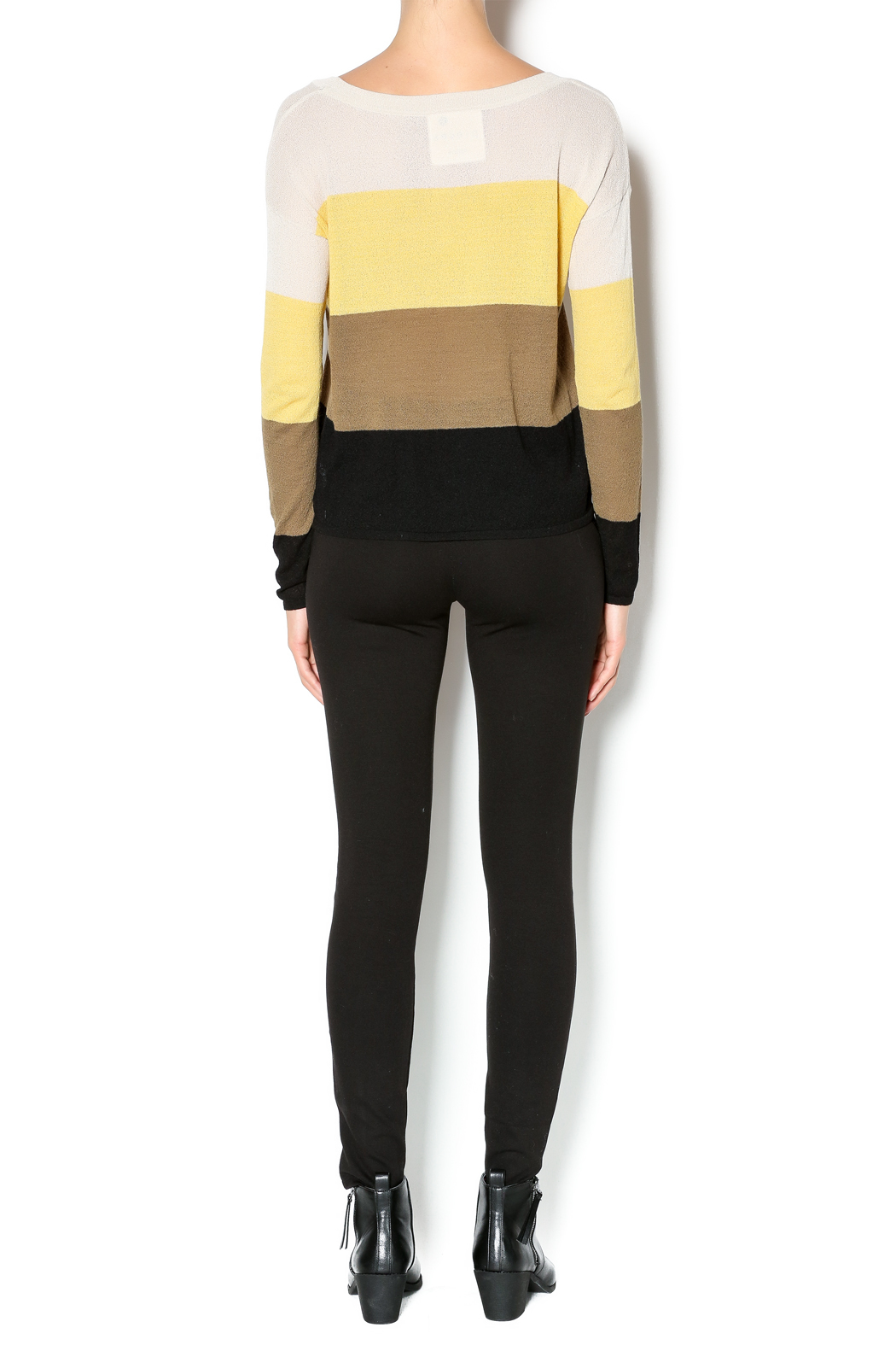 Kensie Striped Lightweight Sweater - Side Cropped Image