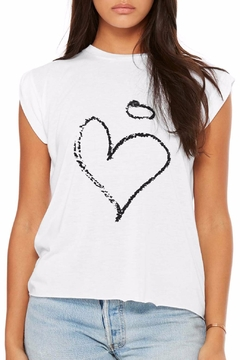 Shoptiques Product: Chalk Heart Tee