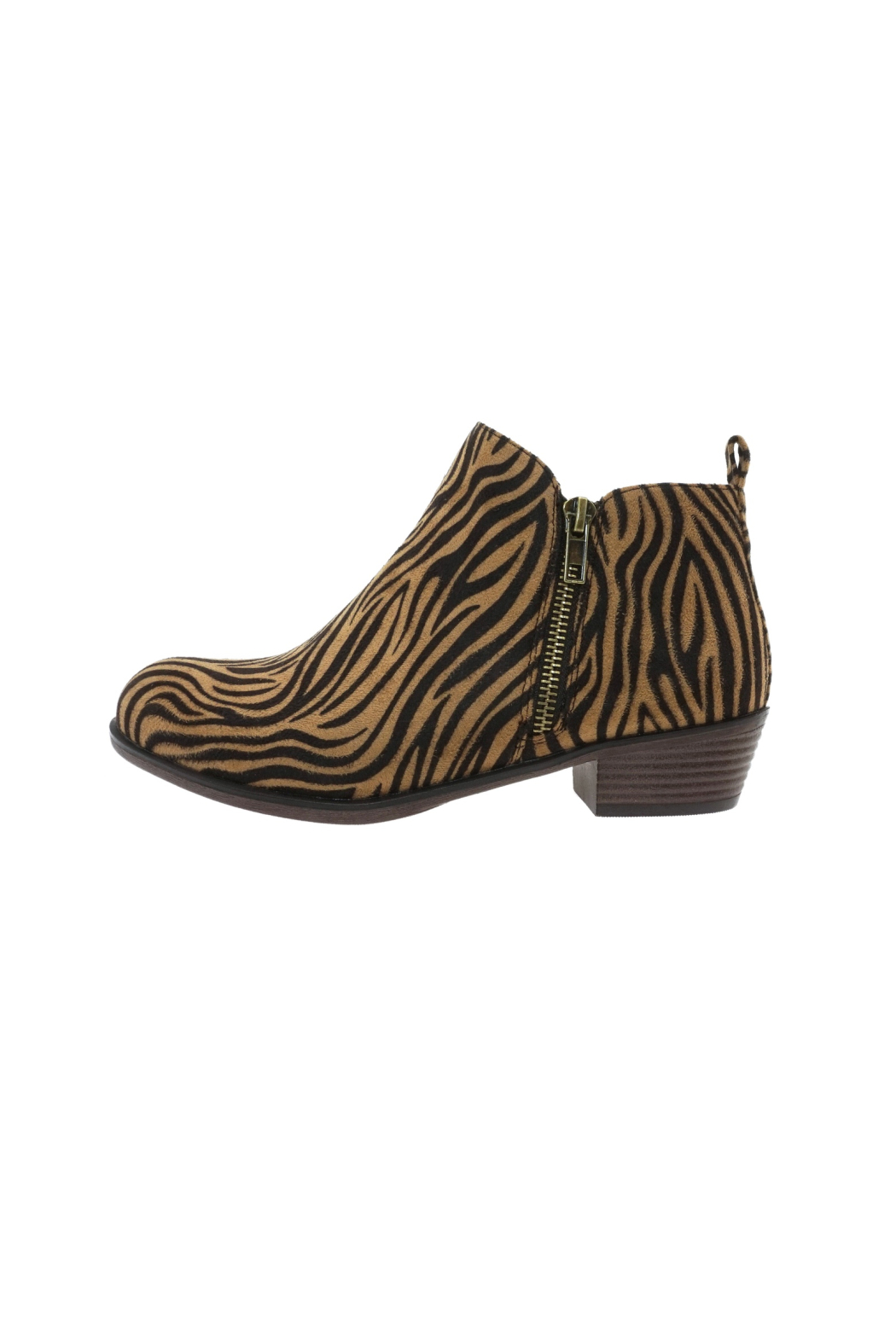 Pierre Dumas Kenzie-3 Tiger Bootie - Front Cropped Image