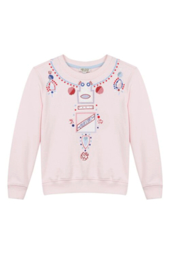 Kenzo 14Y Kristen Necklace Sweater - Alternate List Image